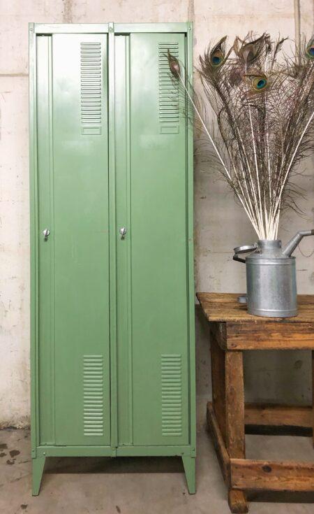 vintage, industrieel, locker, lockerkast, interieur, kledingkast, garderobekast