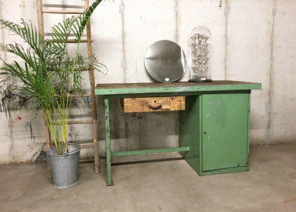 bureau, werkbank, thuiswerkplek, vintage, industrieel, interieur