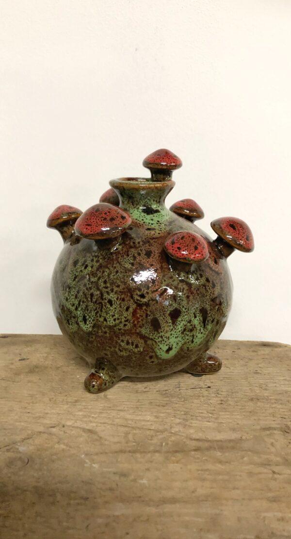 paddenstoel, vaasjes, nieuw, woonaccessoires, interieur