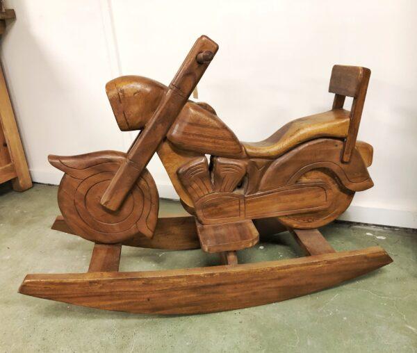 hout, motor, hobbelpaard, interieur